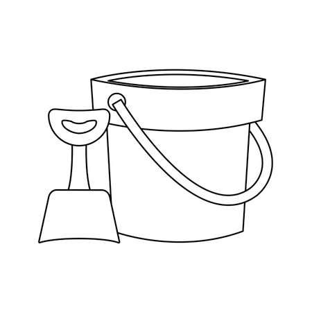 shovel and bucket toy isolated icon vector illustration design