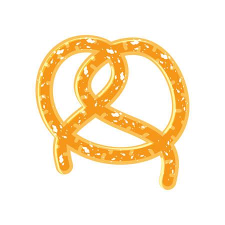 delicious pretzel pastry isolated icon vector illustration design