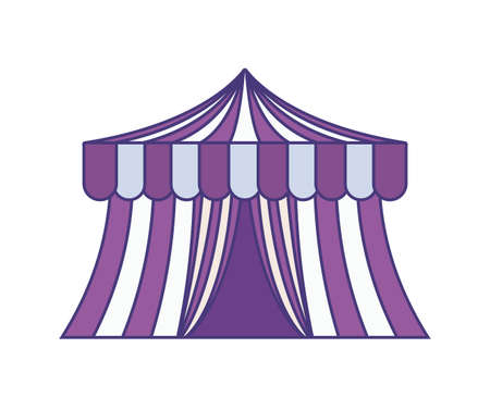 circus tent carnival isolated icon vector illustration design