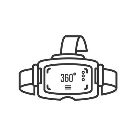 icon of camera 360 degrees, virtual tour line detailed vector illustration design