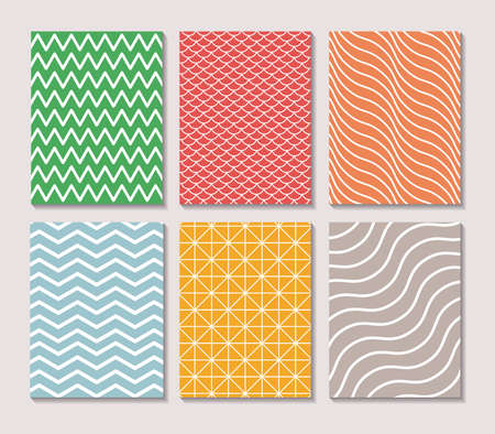 Pattern and striped frames, Background abstract texture art wallpaper template and decoration theme Vector illustration Векторная Иллюстрация