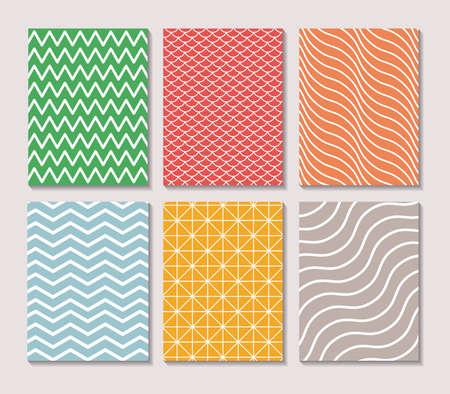 Pattern and striped frames, Background abstract texture art wallpaper template and decoration theme Vector illustration Vektoros illusztráció