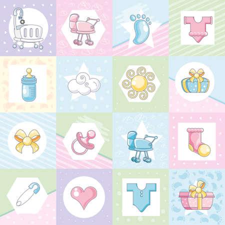 set of accessories for baby vector illustration design Ilustracje wektorowe