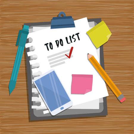 checklist clipboard with supplies vector illustration design