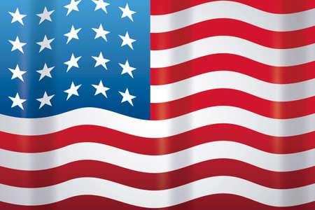 united states of america flag vector illustration design Ilustración de vector