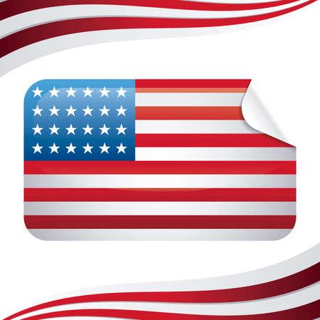 united state of american flag in rectangle shape vector illustration design Vektorové ilustrace