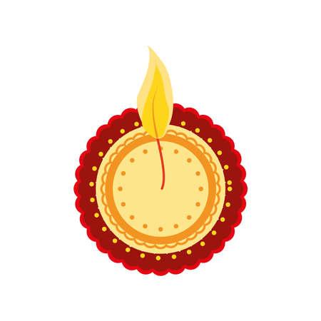 festival navratri decorative element on white background vector illustration desing