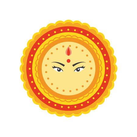 beautiful mandala on white background vector illustration desing