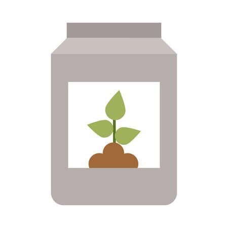 jar with seeds on white background vector illustration design