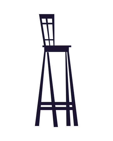 chairs and tables for restaurants and bars vector illustration desing Stock Illustratie