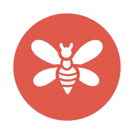 cute bee , block and flat style icon vector illustration design Illusztráció