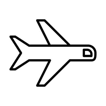 airplane , passenger plane, line style icon vector illustration design 矢量图像