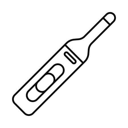 medical instrument thermometer, line style icon vector illustration design