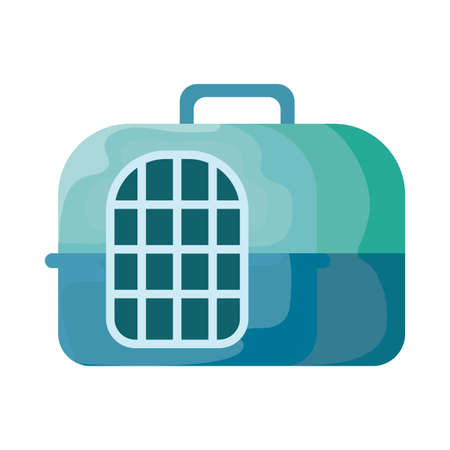 plastic pet travel carrier on white background vector illustration design
