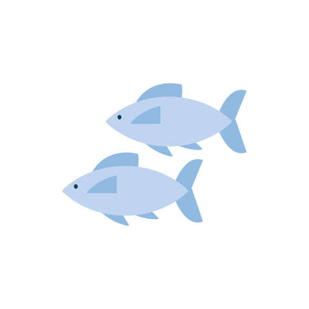 Fishes animals design Sea life ecosystem fauna ocean underwater water nature marine tropical theme Vector illustration 向量圖像