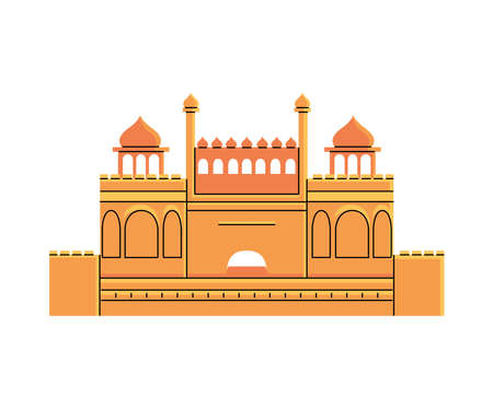 famous temples and monuments of india vector illustration design