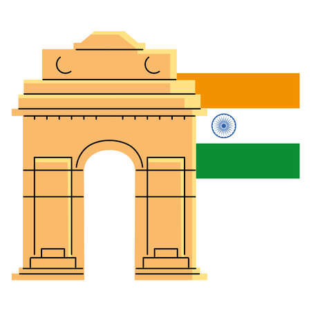 famous temples and monuments of india vector illustration design Banco de Imagens - 154603854