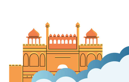 famous temples and monuments of india vector illustration design Banco de Imagens - 154603860