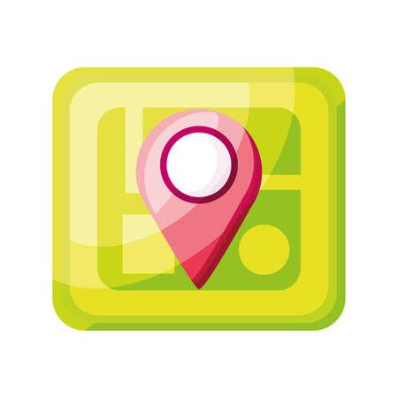 maps app on white background vector illustration design Иллюстрация