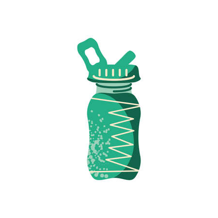 sport bottle icon over white background, flat and colorful design, vector illustration