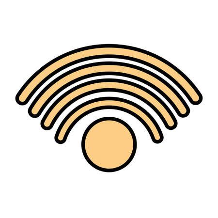 wifi symbol in white background vector illustration design