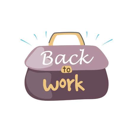 back to work, lettering about back to work vector illustration design