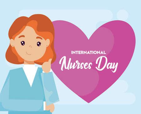 poster of the international nurse day vector illustration design