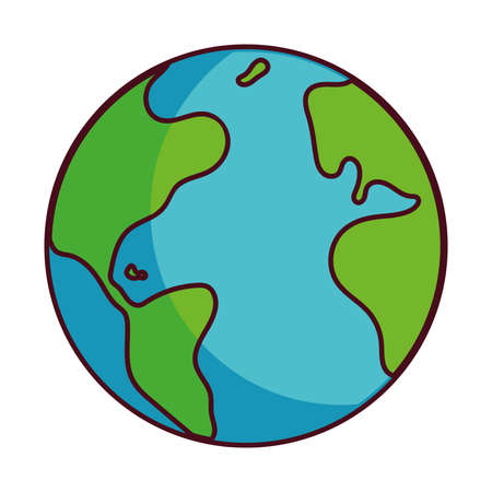 earth globe happy for preservation vector illustration desing Stock fotó - 154612365