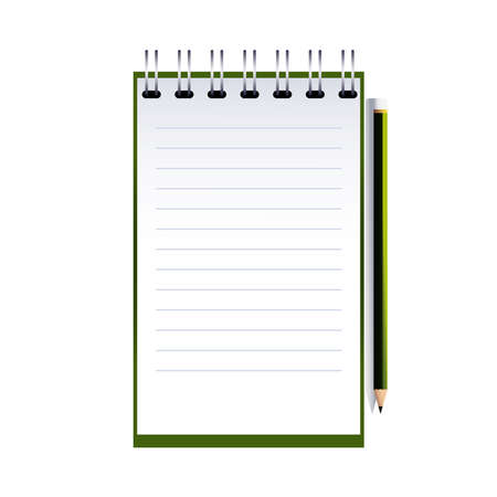 notebook and notepad with corporate designs vector illustration design