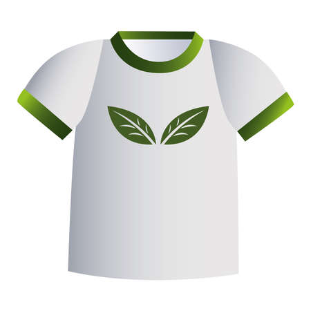 green and white t-shirt with corporate designs vector illustration design Vector Illustratie