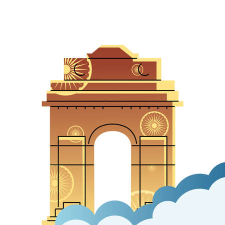 famous temples and monuments of india vector illustration design Ilustração