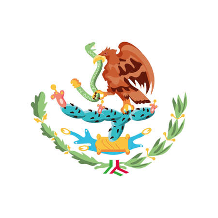 coat of arms of mexico on white background vector illustration design