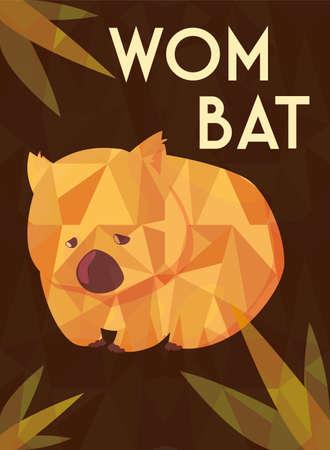 greeting card with australian wombat vector illustration design