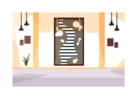 exhibition hall , art gallery on white background vector illustration design Ilustración de vector