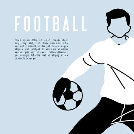 soccer goalkeeper catching a ball, poster vector illustration design