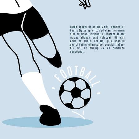 soccer player running with soccer ball, poster vector illustration design Ilustracja