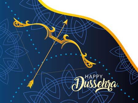 template for celebration happy Dussehra vector illustration design