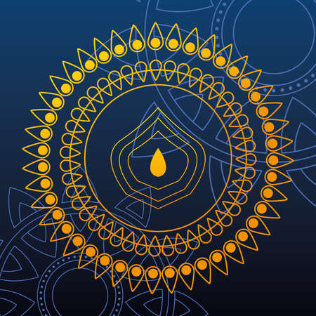 template for card, indian festival vector illustration design