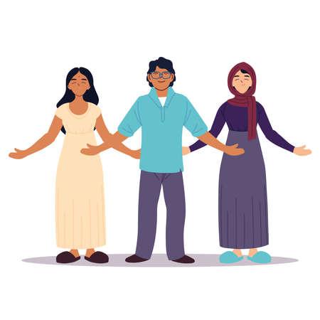 group of people together, diversity or multicultural vector illustration design