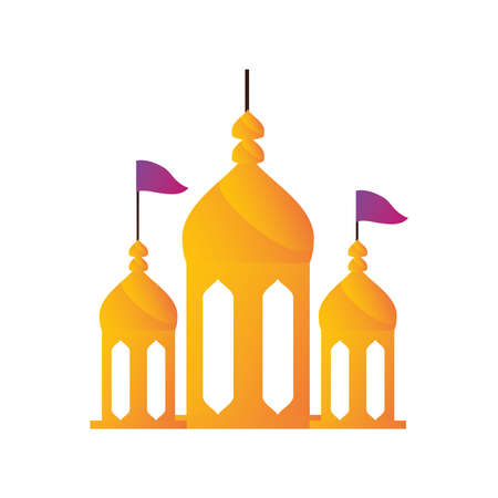 indian palace or temple in white background vector illustration design