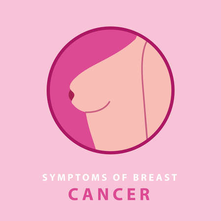 symptoms of cancer, turning inward vector illustration design