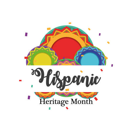 national hispanic heritage month with circles design, culture and latino theme Vector illustration Vecteurs