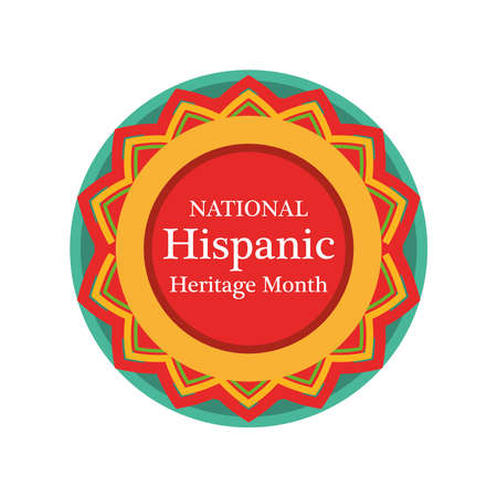 national hispanic heritage month in seal stamp design, culture and latino theme Vector illustration Vecteurs