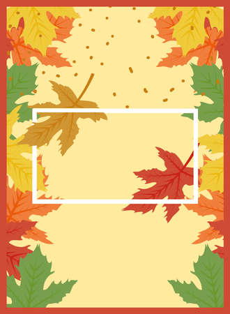Autumn leaves design, season nature ornament garden decoration and botany theme Vector illustration Иллюстрация