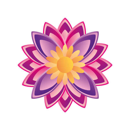 flower indian and detailed style icon design, natural floral nature plant ornament garden decoration and botany theme Vector illustration