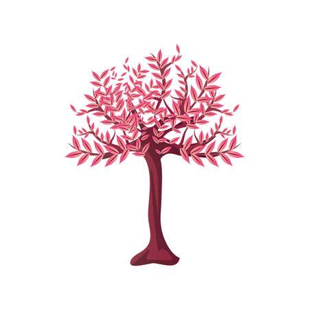 decorative chinese tree on white background vector illustration design