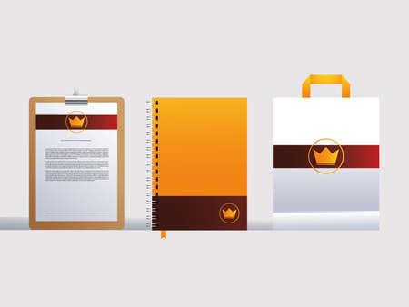 corporate identity branding design in white background vector illustration design Vetores