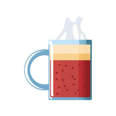 mug of coffee on white background vector illustration design