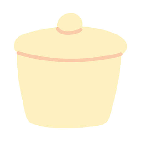 jar of sugar on white background vector illustration design