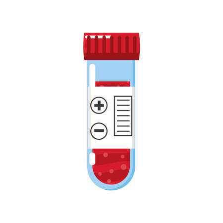medical chemistry test tube equipment vector illustration isolated detailed icon